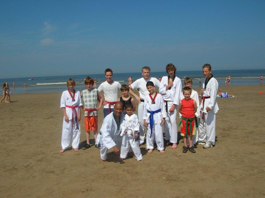 Strandtraining groepsfoto 2010